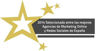 Seleccionada por Aula CM entre las mejores Agencias de España de Marketing Online y Redes Sociales